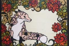 キタキツネ Ezo red Fox size:363×515mm