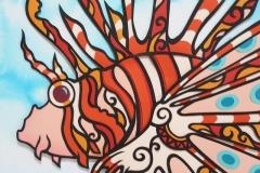 ミノカサゴ Lionfish size:297×210mm